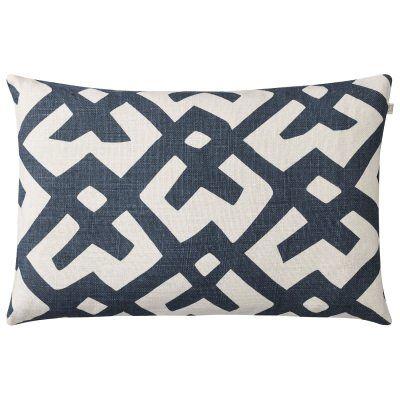 Chhatwal & Jonsson Dadra tyynynpäällinen S, luonnonvalkoinen/sininen