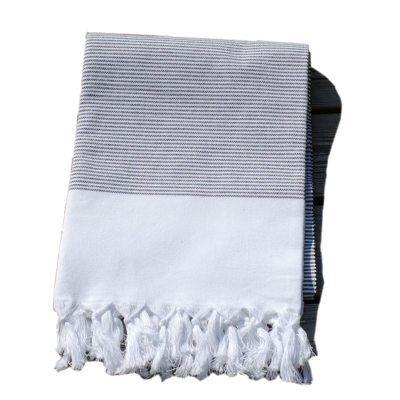 Lou & Friends Stripy hamam-pyyhe 180x100, musta