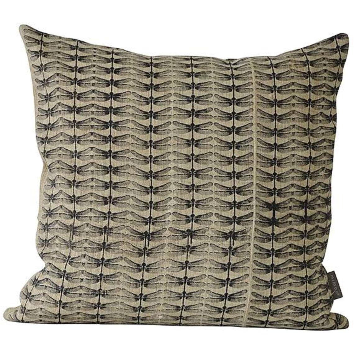 Mimou-Dragonfly Cushion 50x50 cm, Black