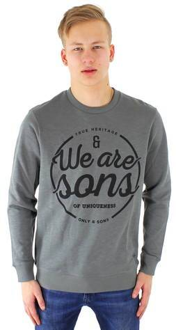 Only&Sons Collegepaita Axel  - HARMAA / GREY - Size: M