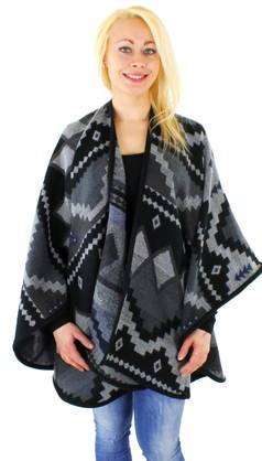 Vila Poncho Vila Vitrine light grey melange