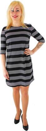 Vero Moda Mekko Stripe musta/valk.