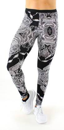 ONLY Play Only Sporty paisley Legginsit musta