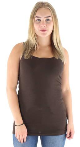 Image of Vero Moda Toppi Maxi my soft long  - T RUSKEA / DARK BROWN - Size: XS
