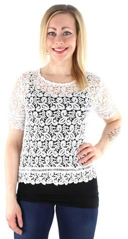 Only t-paita Amy  - VALKOINEN / WHITE - Size: 40