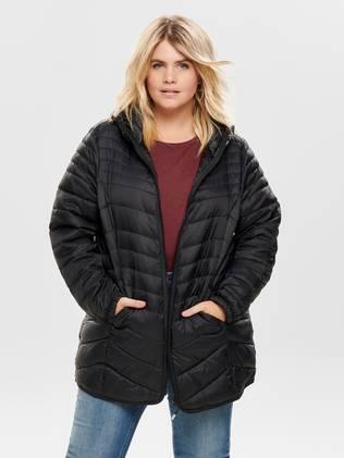 Only Carmakoma Demi nylon coat musta