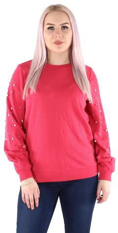 Image of Only collegepaita Asti embellished  - FUKSIA / FUCHSIA - Size: XS