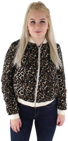 Vero Moda takki Sora bomber leopardi  - OATMEAL - Size: M
