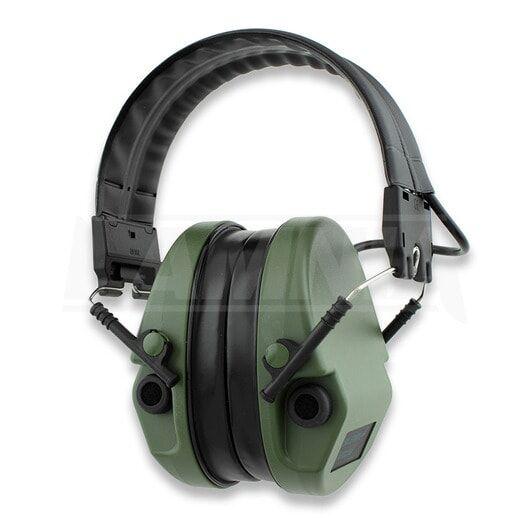 Silenta MILCOM Natural elekr. kuulosuojain, vihreä