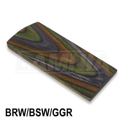 CWP Laminated Blanks BRW/BSW/GGR - Camo yhden tukin aihio