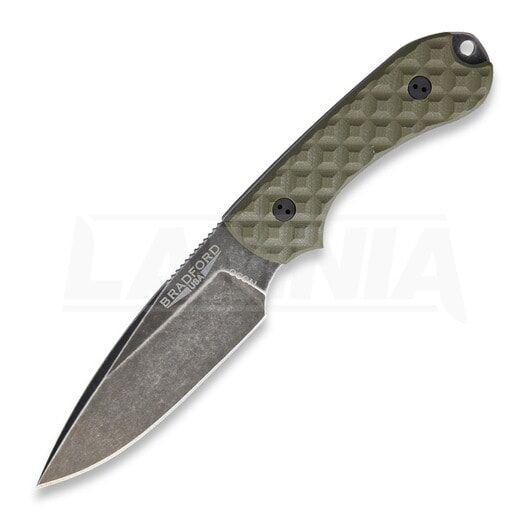 Bradford Knives Guardian 3 OD Green G10, Nimbus finish