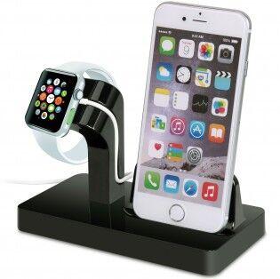 e-ville.com Laturitelakka Apple Watchille & iPhone 5-7 - Musta