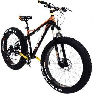 """X-TREME 26"""" Fatbike X-TREME 4"""" renkailla - Oranssimusta, Umpinainen"""