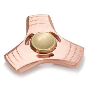 e-ville.com Fidget Spinner alumiininen sormihyrrä - Ruusukulta