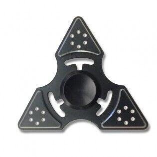e-ville.com Tri-Spinner Shuriken - Fidget Spinner - Musta