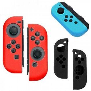 e-ville.com Nintendo SWITCH 2 x ohjaimen silikonisuoja - Punainen