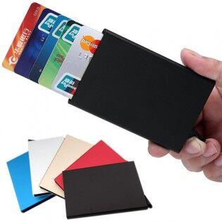 e-ville.com Alumiininen RFID-suojattu korttilompakko 6 kortille - Musta