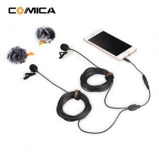 e-ville.com Comica CVM-D02 dual nappimikrofoni puhelimeen tai action-kameraan (2,5-6m) - 2.5m