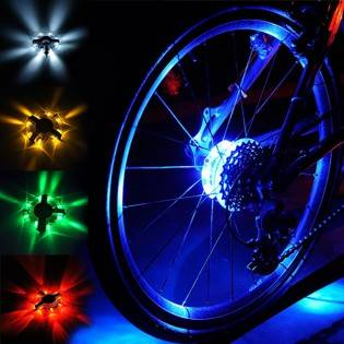 e-ville.com Pyörän LED-valo renkaaseen - Valkoinen