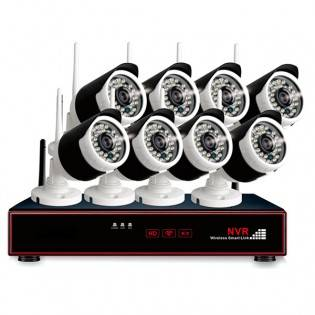 e-ville.com 8 kameran turvakamerajärjestelmä 720P