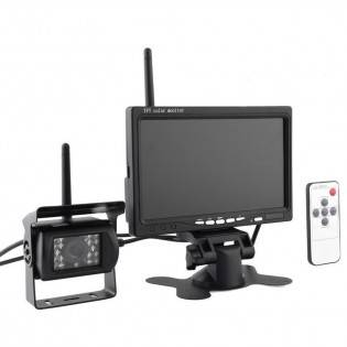 "e-ville.com 7"" langaton näyttö ja kamera IR LED setti"