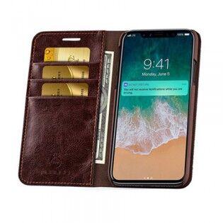 e-ville.com Apple iPhone X flip cover -suojakuori - Musta