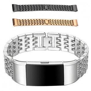 e-ville.com Fitbit Charge 2 metalliranneke - Hopea