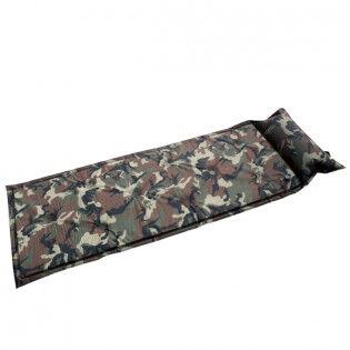 e-ville.com Camo ilmatäytteinen makuualusta tyynyllä - Maastokuvio