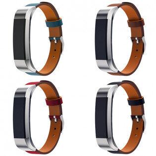 e-ville.com Fitbit Alta / Alta HR nahkaranneke - Musta