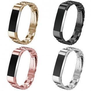 e-ville.com Fitbit Alta / Alta HR metalliranneke - Musta