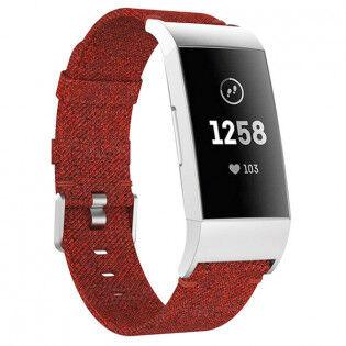 e-ville.com Fitbit Charge 3 kangasranneke - Punainen