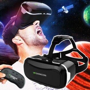 """e-ville.com SHINECON 2.0 3D Virtuaalilasit & BT-ohjain 4.7-6"""" älypuhelimelle"""