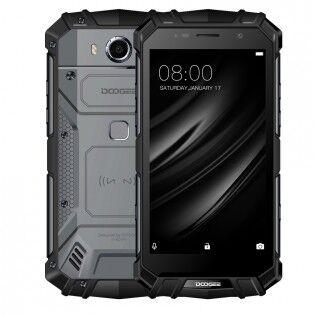 """e-ville.com Tehdashuollettu Doogee S60 5.2"""" Android 7 IP68 -puhelin - Musta"""