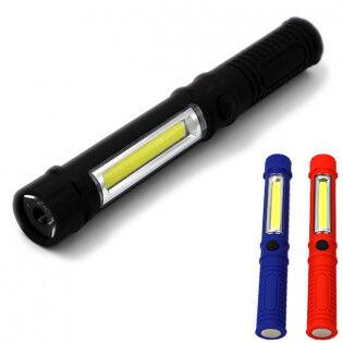 e-ville.com LED taskulamppu magneetilla & COB LEDillä - Punainen