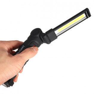 e-ville.com USB-ladattava työvalo magneetilla ja koukulla