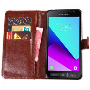 e-ville.com Samsung Galaxy Xcover 4 flip cover -suojakotelo - Tummansininen