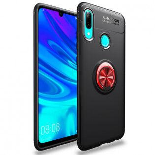 e-ville.com Huawei P Smart 2019 suojakuori sormipidikkeelllä - Punainen
