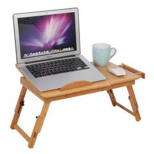 e-ville.com Säädettävä bambuinen tietokonetaso - Tuulettimella