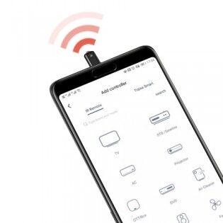 e-ville.com Baseus Mini infrapunalähetin puhelimeen - Hopea & Musta, MicroUSB