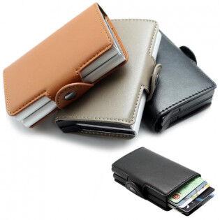e-ville.com RFID -korttilompakko kahdella pop-up -kotelolla - Punainen