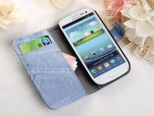 e-ville.com Jean Samsung S3 cover  - Farkkuinen SGS3 suoja - Ruskea
