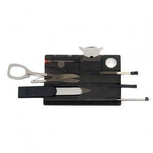 e-ville.com 12-in-1 taskutyökalu lompakkoon - Musta