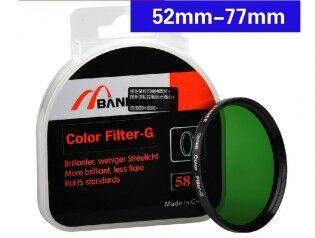 e-ville.com Green lens filter - Vihreä suodin - 77mm