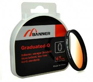 e-ville.com Graduated Orange lens filter - Oranssi gradienttisuodin - 58mm