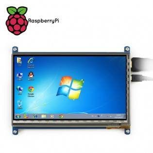 "e-ville.com 7"" 1024x600 Kosketusnäyttö Raspberry Pi tietokoneelle"