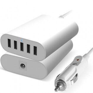 Hunda 5in1 USB-autolaturi 2.4A - Musta