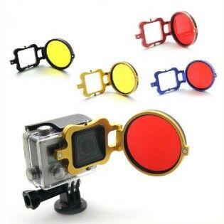 e-ville.com GoPro käännettävä suodin -adapteri 58mm - Sininen