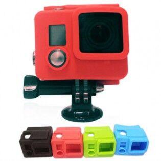 e-ville.com GoPro Hero 3+ & 4 silikonisuoja vesitiiviille kotelolle - Vihreä