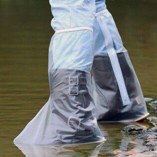 e-ville.com Korkea PVC-suoja kengille 40cm - Sininen, XXL