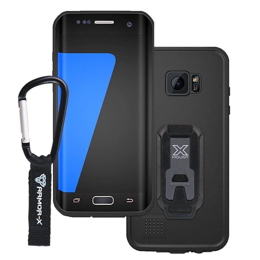 Armor-X MX Samsung Galaxy S7 edge IP68 vedenkestävä suojakotelo - Musta